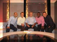 Mike with Gavin Peacock, Lee Dixon, Garth Crooks & Ray Stubbs December 2006