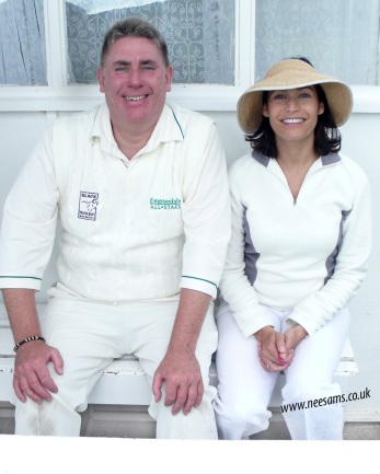 Alastair & Georgie at Emmerdale Cricket Match